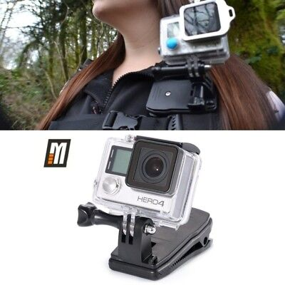 Gopro Backpack Mount Rotatable 360 Quick Hat Rucksack Clip Clamp For Hero 5 4 3