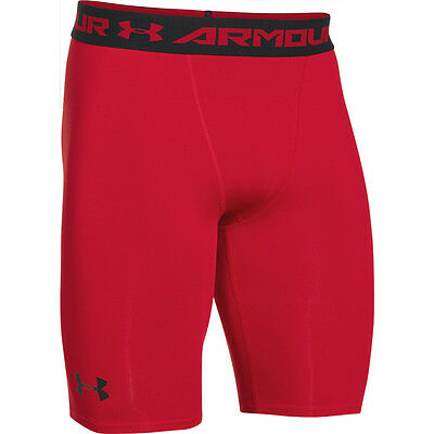 Under Armour Heatgear Longer Compression Short red black 1257472-600 Shorts