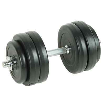 New Dumbbell Weight Set 15kg Home Gym Fitness Barbell Exercise Adjustable Plate