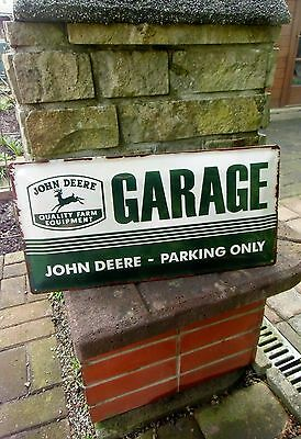 - JOHN DEERE GARAGE / PARKING ONLY - official LARGE metal Wall Sign