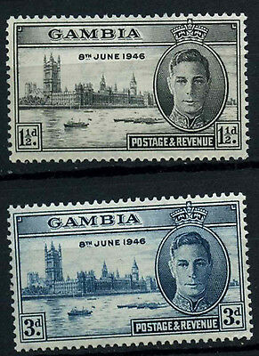 Gambia 1946 SG#162-3 Victory MH Set #D38249