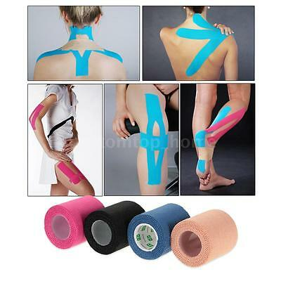 5CM*5M Sports Muscle Sticker Tape Roll Cotton Elastic Muscle Bandage Joints J8K1