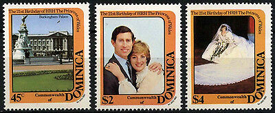 Dominica 1982 SG#821-3, 21st Birthday Princess Of Wales MNH Set #D38111