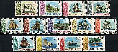 Norfolk Islands 1967-8 SG#77-89 Ships definitives 1c-50c MNH/Used #D38045