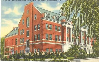 Vintage Florida Linen Postcard Tallahassee Agricultural Mechanical College A & M