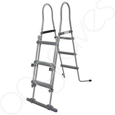 42 Inch (106cm) Swimming Pool Ladder Steps Swim Step Steel Frame