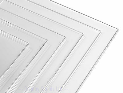 Clear Acrylic Perspex Plastic Sheet Panel Custom Cut to Size (DSA+)