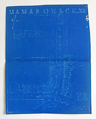 Vintage 1922 Mamaroneck, Ny / A W Bailey & Co. Real Estate Street Blue Print
