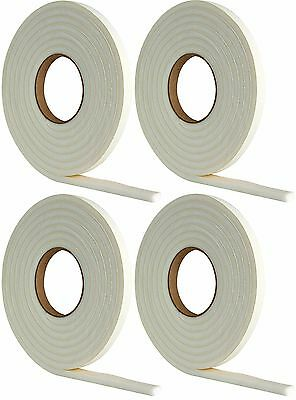 4 x 5m Draught Excluder Foam Tape Seal Doors Windows Weather Strip Insulation