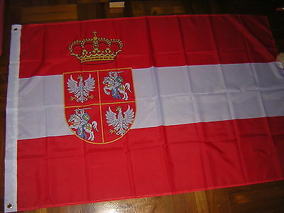 Flag of Polish–Lithuanian Commonwealth 1569–1648 Poland Lithuania Ensign 3X5ft