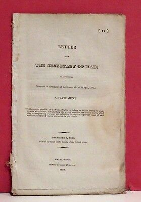 Secretary of War-Annuities to be Paid to the Indian Tribes-John C. Calhoun-1820
