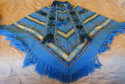 Youth Size Large or Womens size Small Blanket Poncho