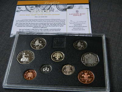 1992 UNITED KINGDOM 9 COIN - ROYAL MINT PROOF SET WITH Rare EEC 50p Coin - coa