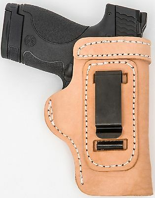 LT TAN CUSTOM OWB Leather Gun Holster U CHOOSE:rh,lh-laser-slide-cant-belt-mag