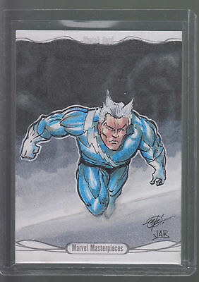 2014 Jusko Marvel Masterpieces Hand-Drawn Art Sketch Card 1/1 Quick Silver
