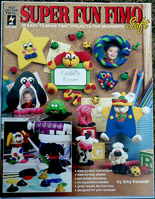 Super Fun Fimo OOP Collectible Book polymer crafts sculpting Mint Cond