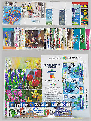 SAN MARINO 2010 COMPLETE YEARSET MNH - Année complete / G79111 / B3