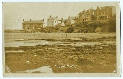 Upper Borth Cottages Cardignshire Williams Real Photo 1918