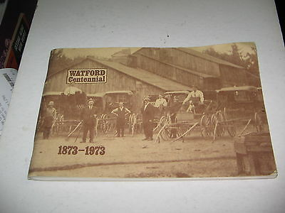 1873-1973 Watford,ontario Centennial Book ,over 100 Pages Local History