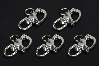 316 Stainless Steel Jaw Swivel Snap Shackle For Sailboat Halyard 2-3//4/'/'inches