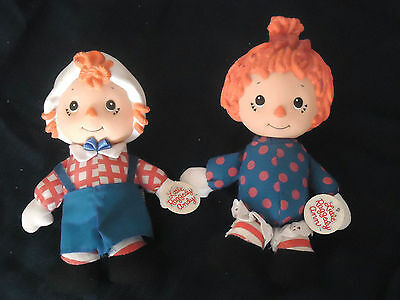 "Direct Connect 12"" Little  Raggedy Ann And Raggedy Andy 1991 Nwt"