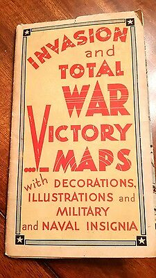 Extremely Rare 1942 WAR VICTORY MAP  Ernest Dudley Chase