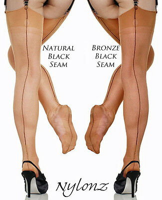 Gio Fully Fashioned Stockings - Contrast Seam - PERFECTS