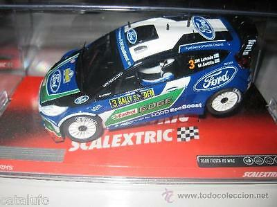 SCALEXTRIC SCX A10092S300   FORD FIESTA WRC RALLY SWEDEN LATVALA / Slot new 1/32