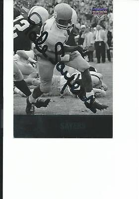 Gale   Sayers    Kansas      Autographed    Card