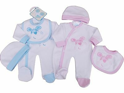 BNWT Tiny Baby Premature Preemie Baby girl or boy bunny Layette set Clothes