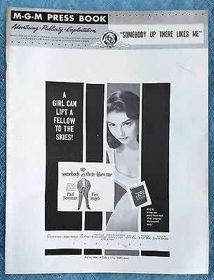 Vintage - Somebody Up There Likes Me - Original 1956 Mgm Pressbook - Paul Newman