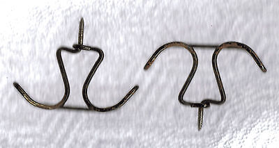 2 Twisted Wire Double Shabby Cottage Primitive Coat Hat Hanger Closet Hooks #1