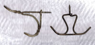 2 Twisted Wire Double Shabby Cottage Primitive Coat Hat Hanger Closet Hooks #4