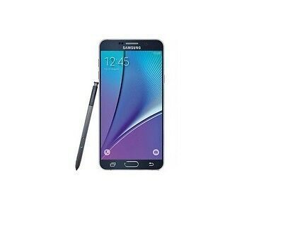 Brand New Samsung Galaxy Note 5 Black Lte 64GB Unlocked Smart Phone-1Year Wty.