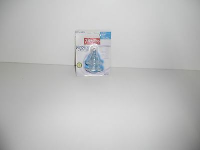 2 NEW Playtex Standard VentAire Advanced 0-3m+ Slow Silicone Baby Nipples
