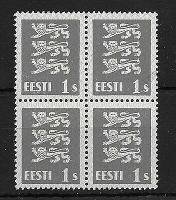 Estonia. 1940. 1 sent. SG160. mnh block 4.
