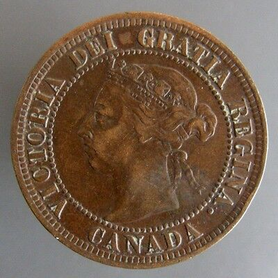 Victoria Large Cent 1891 Large Date Large Leaves