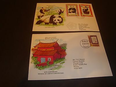 Fdc's From Around The World-First Day Of Issue-Mongolia &republic Of China-1977