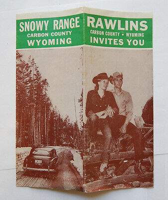 Snowy Range / Rawlins Carbon County Wyoming Pictorial Map / Guide (1950s)