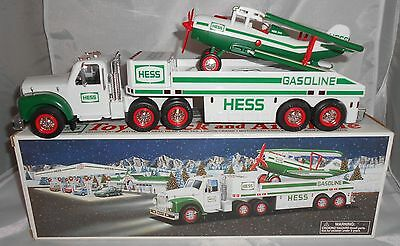2002 Hess Toy Truck and Airplane Used with Box Tested and Working