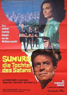 The Million Eyes Of Sumuru Original Poster Shirley Eaton