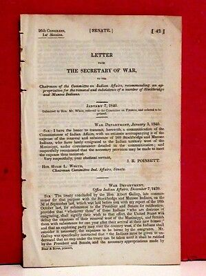 Letter from Secretary of War-Removal of Stockbridge and Munsee Indians-1840