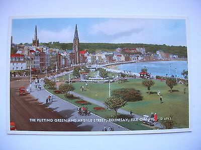 Rothesay, Bute - Putting Green and Argyle Street (Valentine - Carbo Colour)