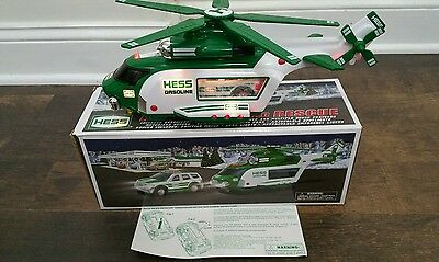2012 Hess Toy Helicopter with Rescue Truck