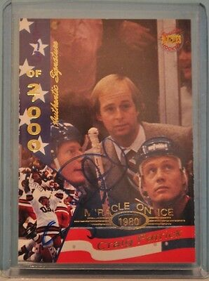 Craig Patrick 1995 Signatures Rookies Miracle on Ice Autograph /2000
