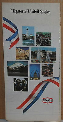 1975 Eastern United States Texaco Gas Station Road Map