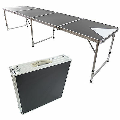 New Beer Pong Table 8' Aluminum Folding Indoor Outdoor Tailgate Drinking Game #3