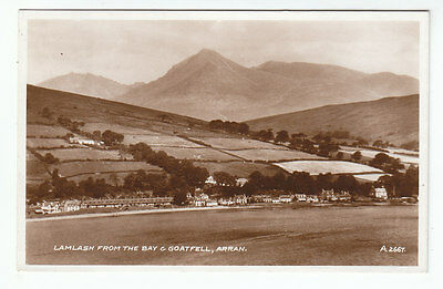 Lamlash From The Bay And Goatfell Isle Of Arran 1935 Real Photograph Scotland