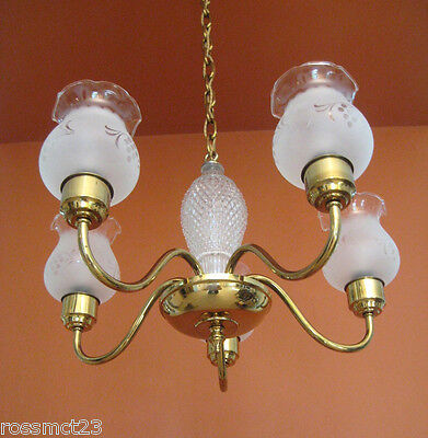 Vintage Lighting 1950s Mid Century Colonial style chandelier   Never Used