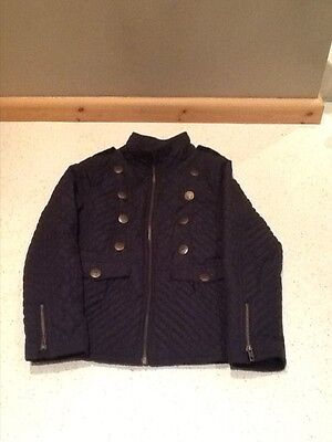 young girls NEXT navy blue quilted jacket size 9-10 years!
